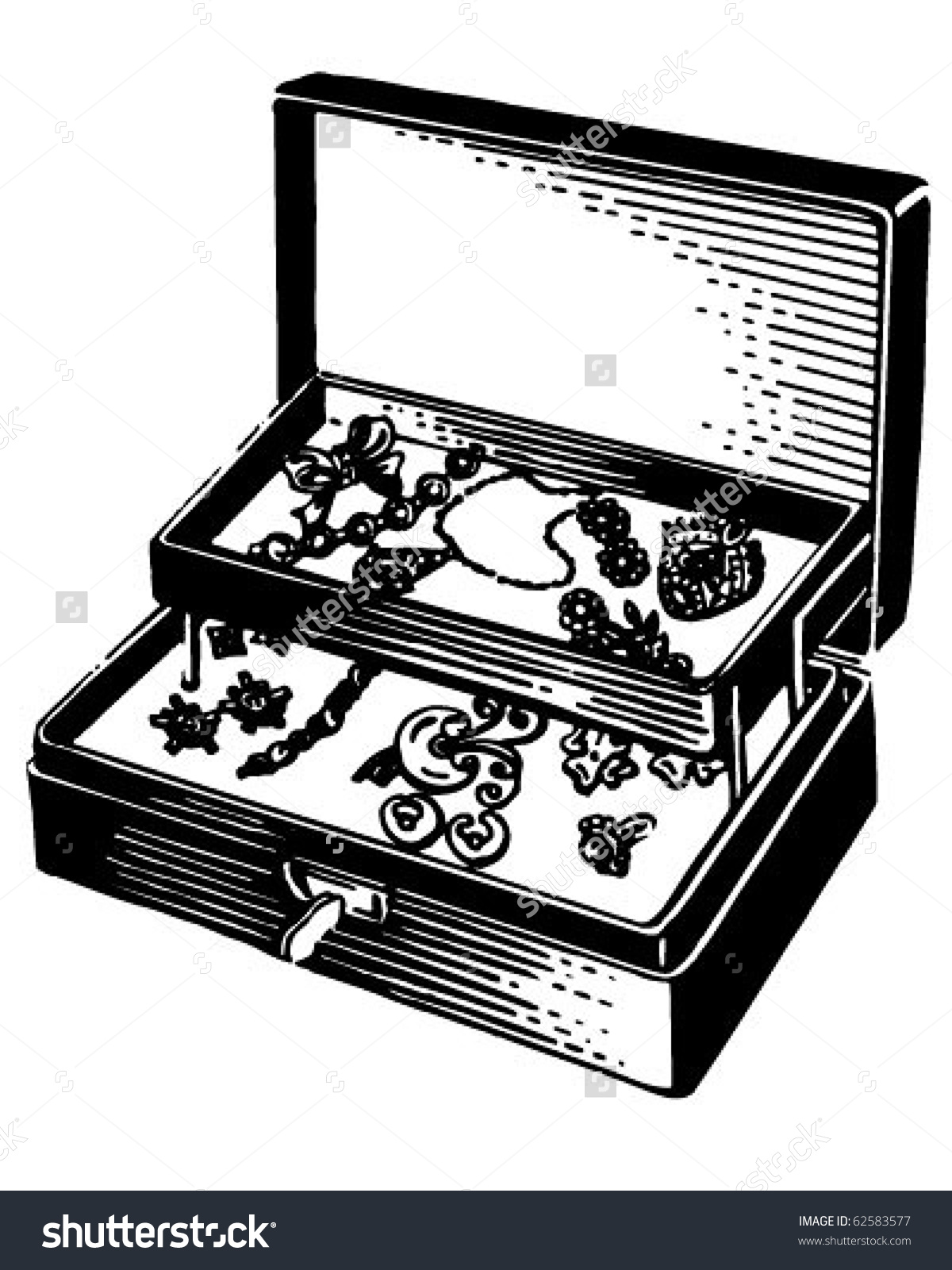 Antique jewel box clipart #13