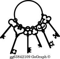 Skeleton Key Clip Art.
