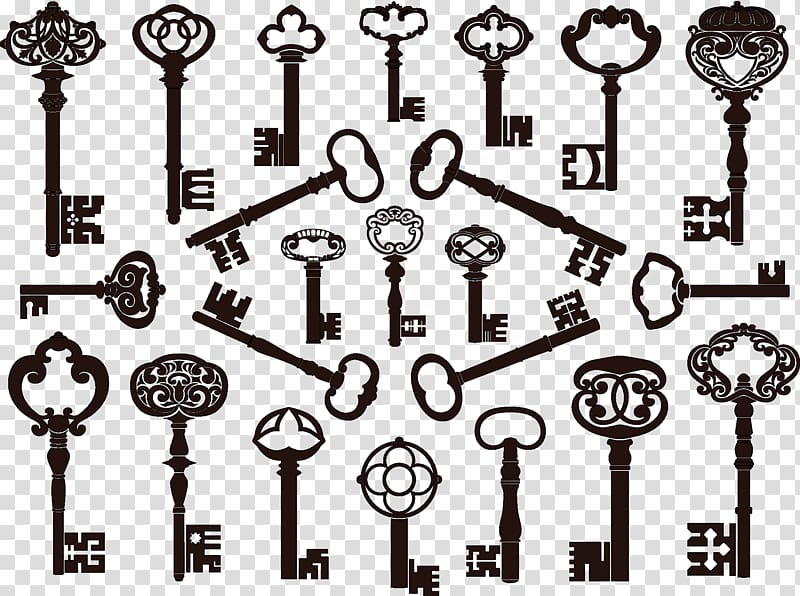 Skeleton keys , Key Antique , Vintage Keys transparent.