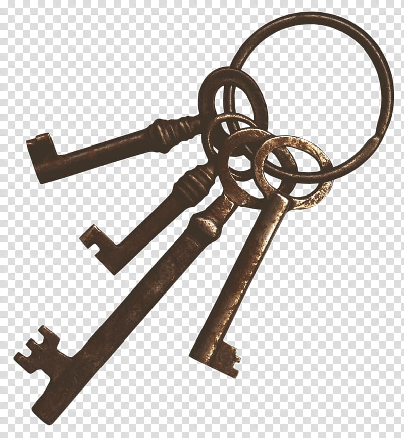 Skeleton key Antique Vintage clothing, keys transparent.