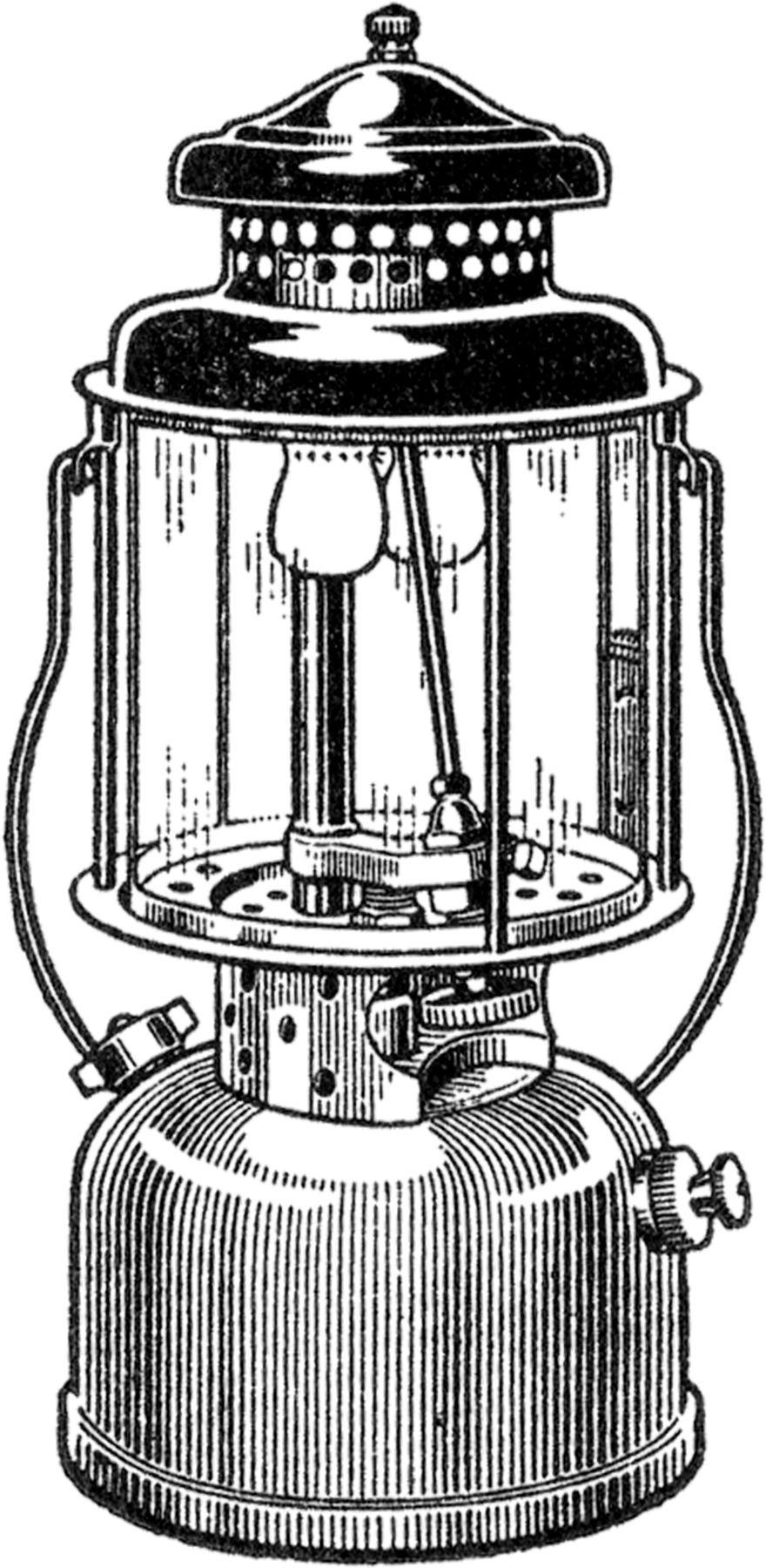 Free Vintage Camping Lantern Image.