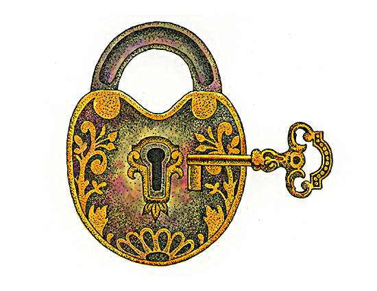 Padlock And Key Clipart.