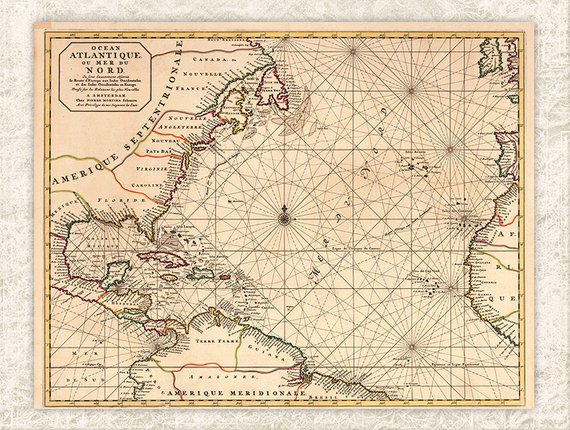 Wonderful Free Printable Vintage Maps To Download.