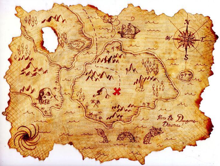 Caribbean clipart pirate map #6.