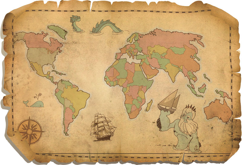 Ancient Map Clipart.