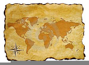 Antique World Map Clipart.