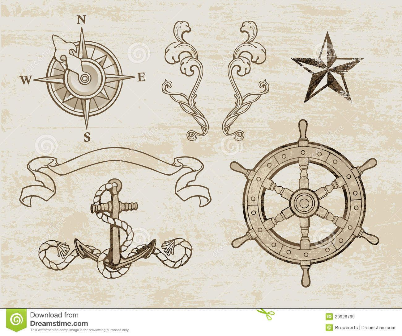 old map compass designs.