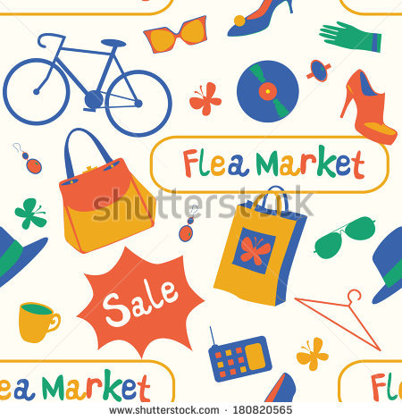 Antique market clipart #14