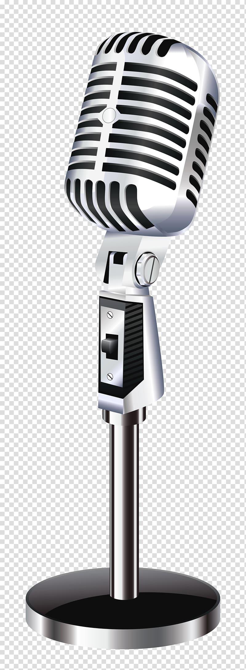 Microphone, Retro Microphone , silver condenser microphone.
