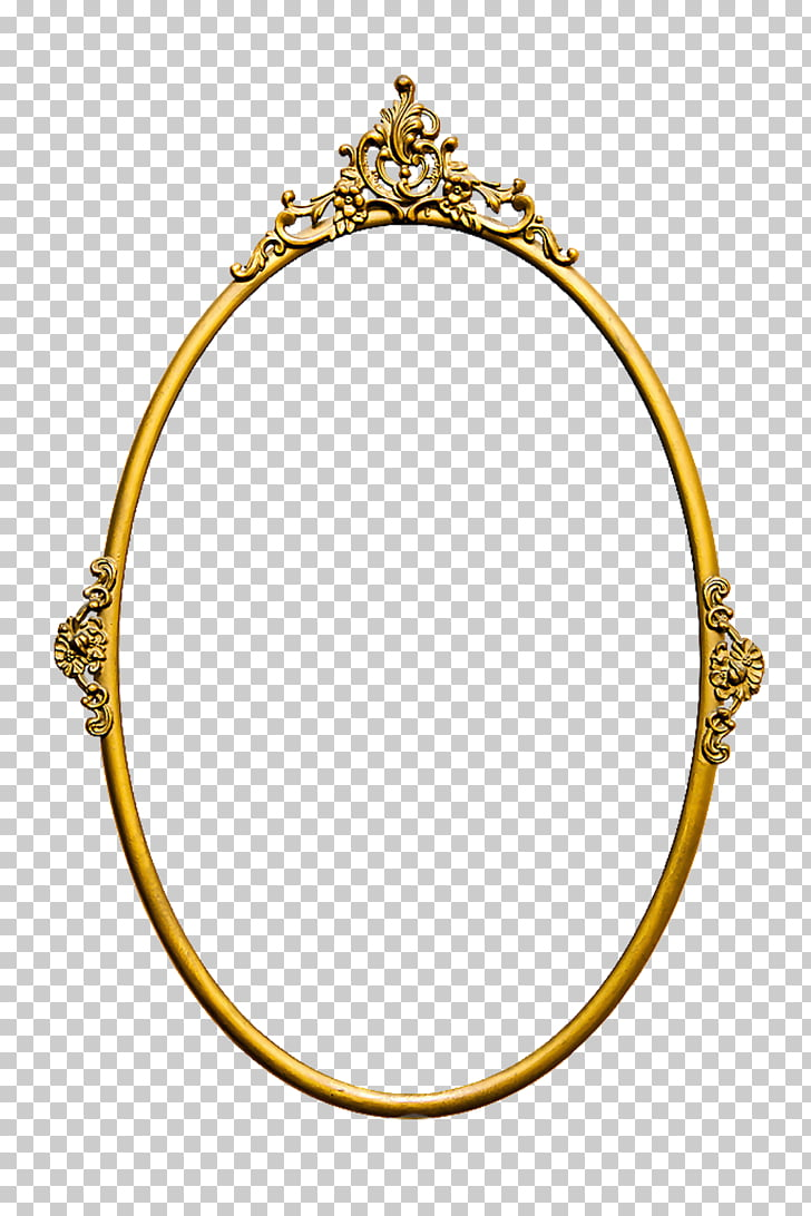 Stock photography Mirror Frames Vintage, mirror, oval gold.