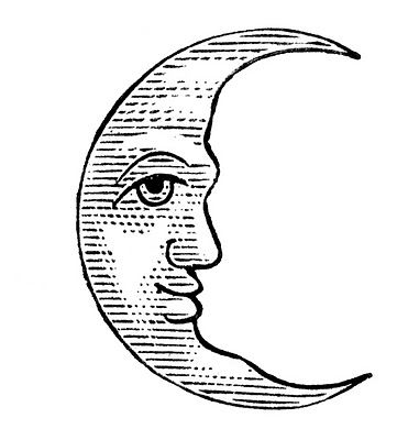 11 Man in the Moon Clipart!.