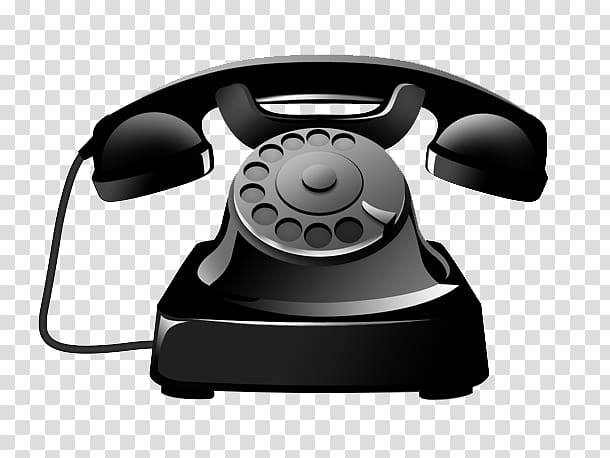 Black rotary telephone illustration, Telephone Icon, Antique black.