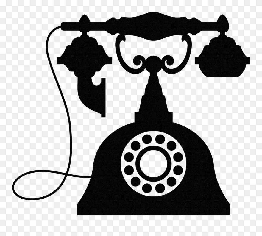 Vintage Telephone Wall Sticker, Old Phone Wall Art.