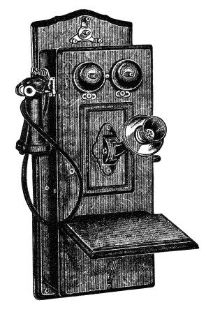 antique telephone clip art, black and white clipart, old.