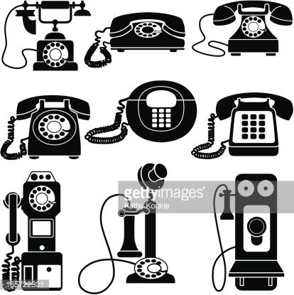 old fashioned telephone clipart.