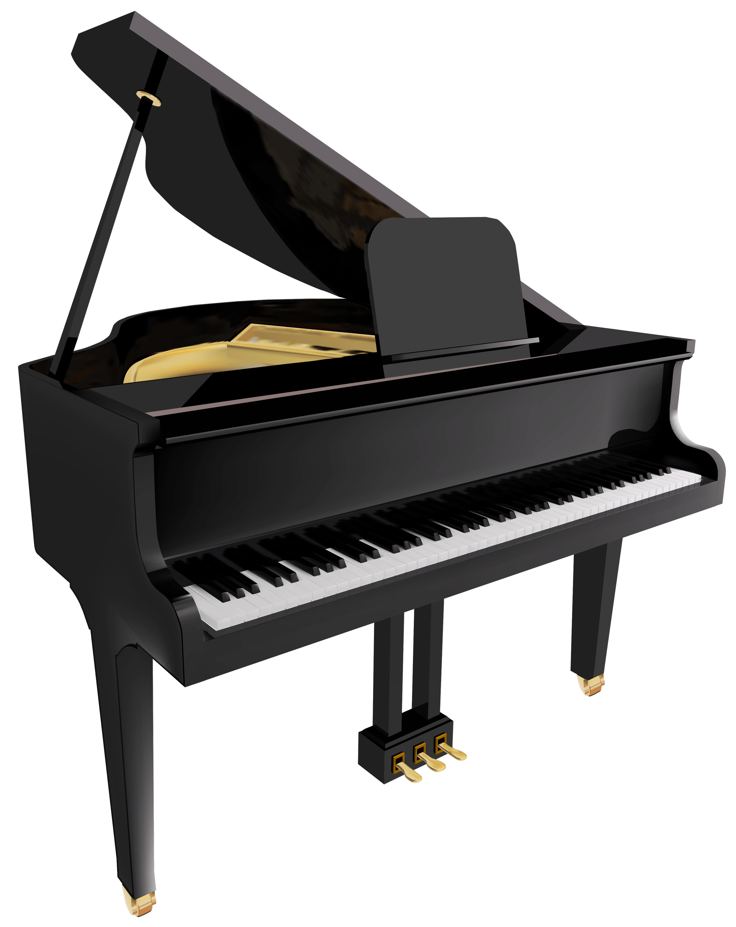 Piano Clipart transparent PNG.