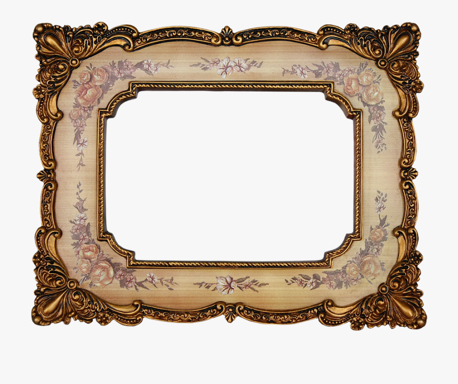 Antique Picture Frame Png.