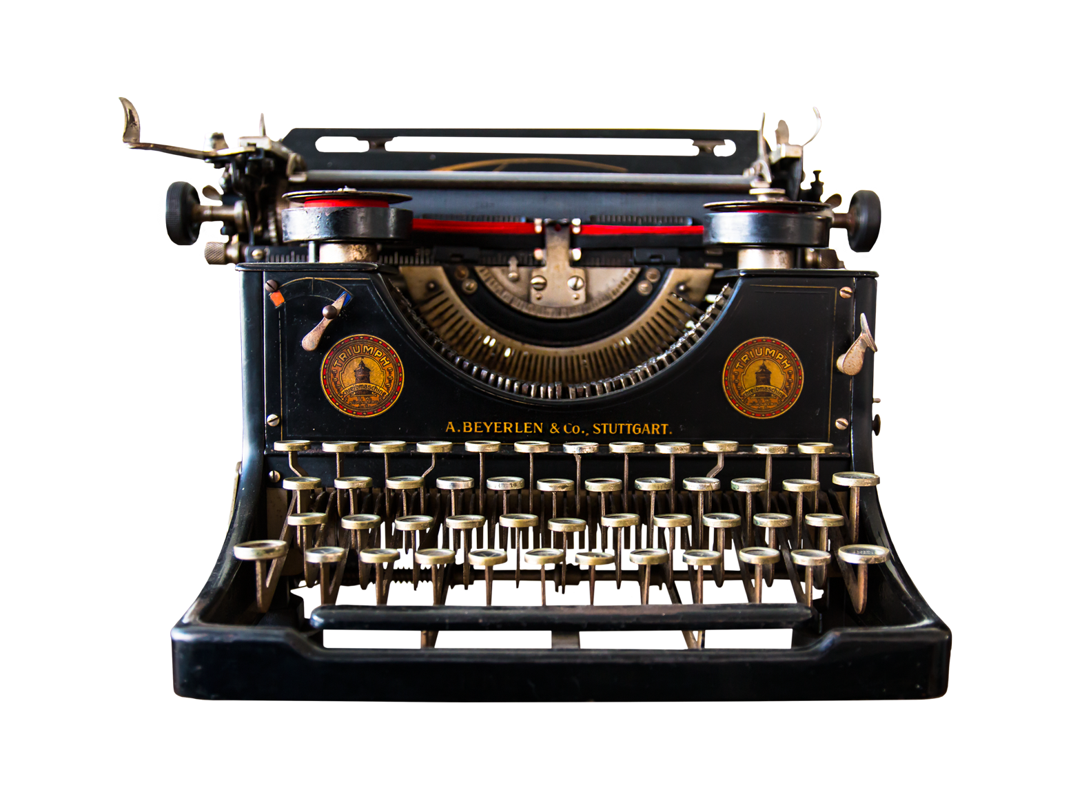 Antique Typewriter PNG Image.