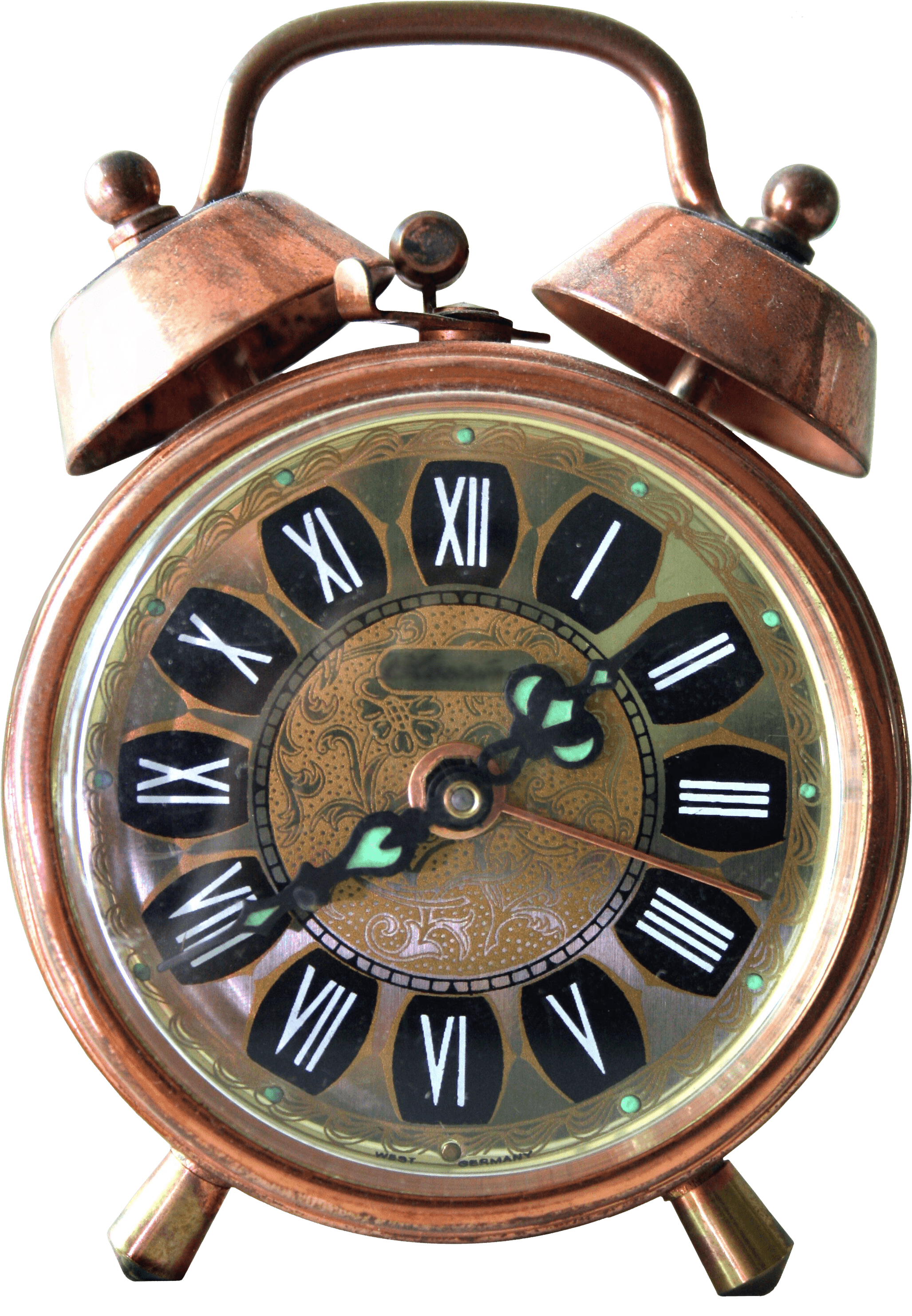 Vintage Alarm Clock transparent PNG.