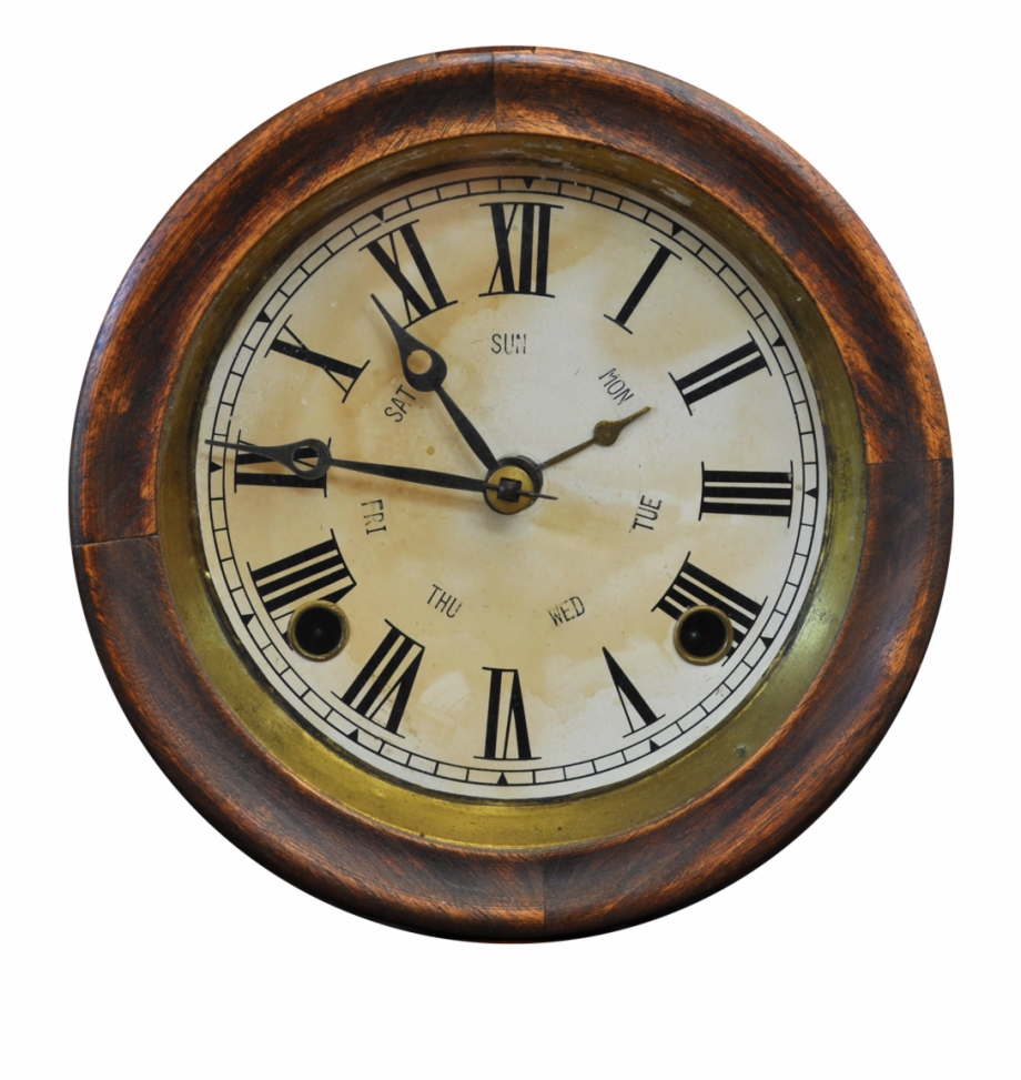 Antique Clock Png Image.