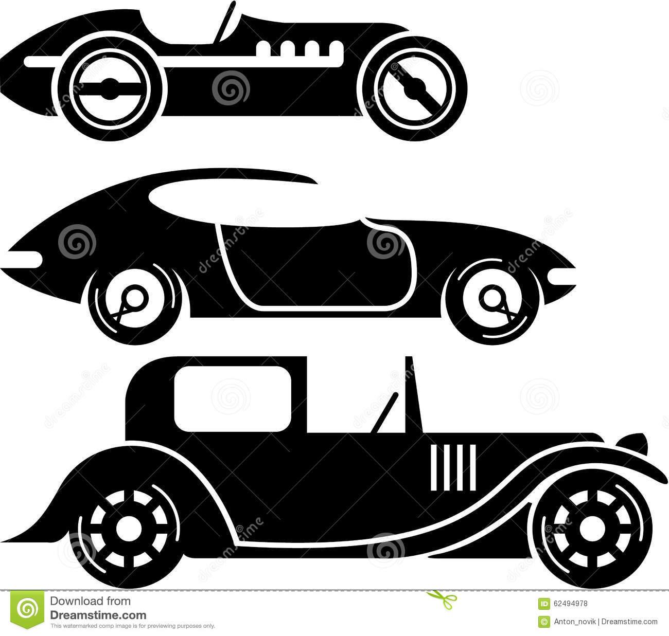 Vintage Race Car Clipart.