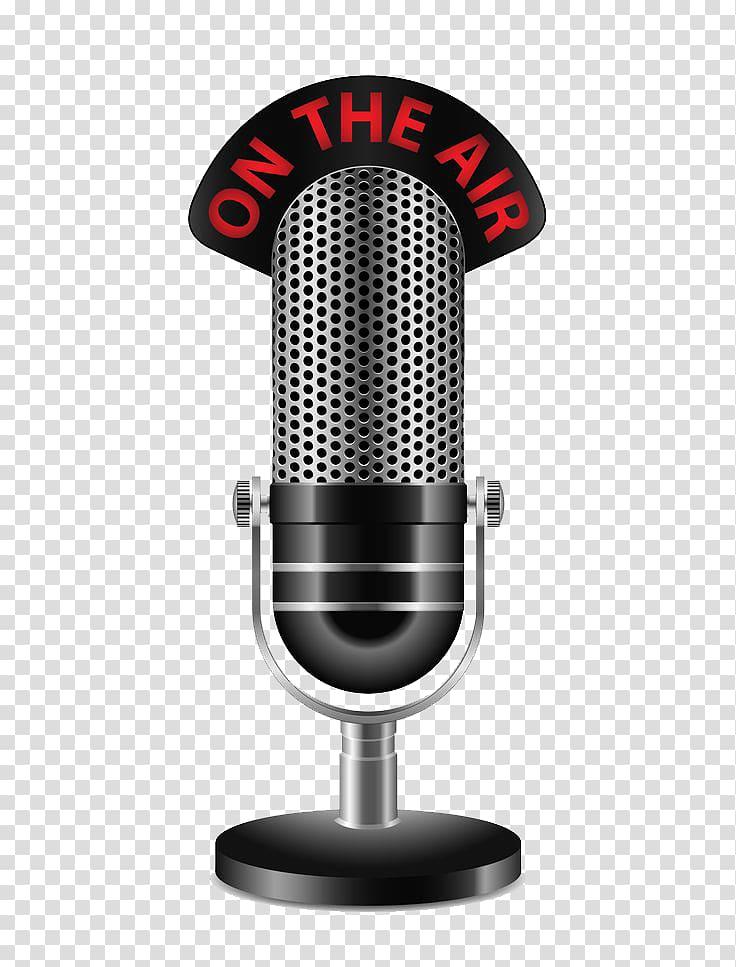 Wireless microphone Radio , Microphone transparent.
