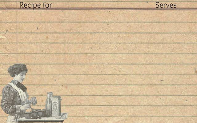 Printable Recipe Cards & Antique Graphic for Iron.