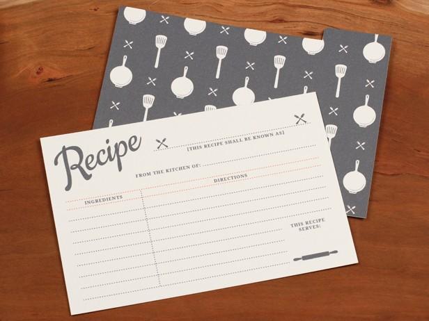 Vintage Recipe Cards Printable by Basic Invite.
