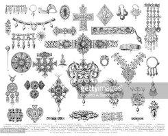 Antique Jewelry Engraving 1896 stock vectors.