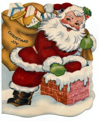 free vintage santa images.