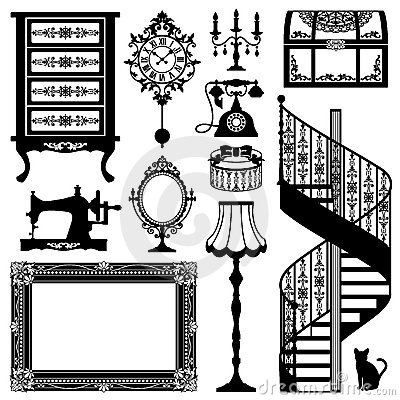 Antique shops clipart #12