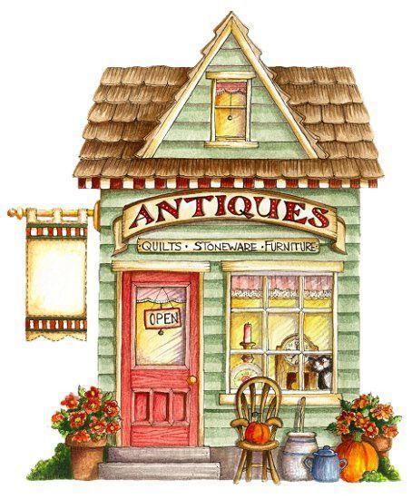 Antique shops clipart #16
