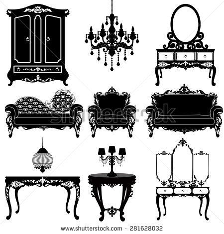 Antique Furniture Stock Images, Royalty.