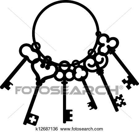 Antique skeleton keys Clip Art.