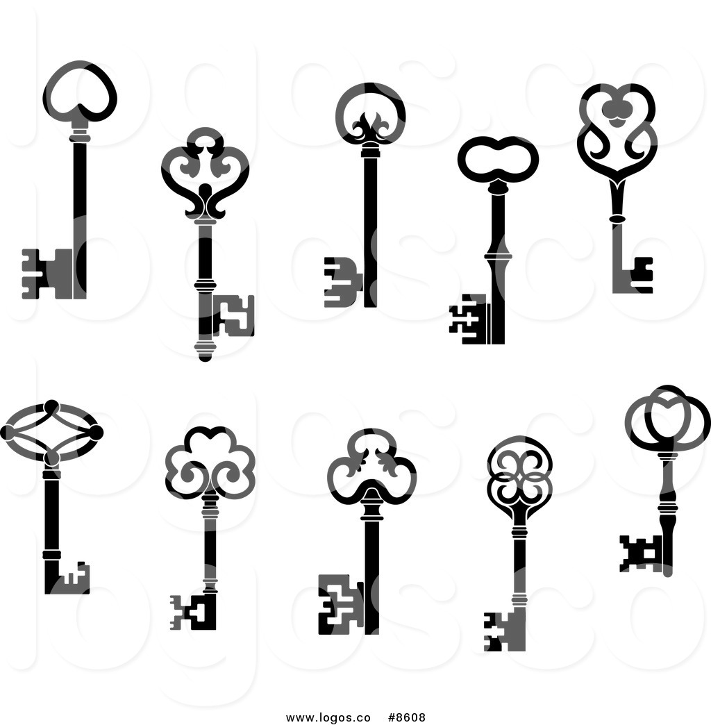 Royalty Free Clip Art Vector Logos of Black and White Antique.