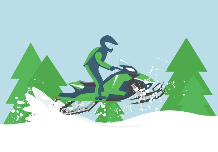 Snowmobile Illustration.