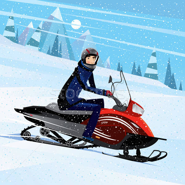 Snowmobile Stock Vectors, Illustrations and Cliparts.