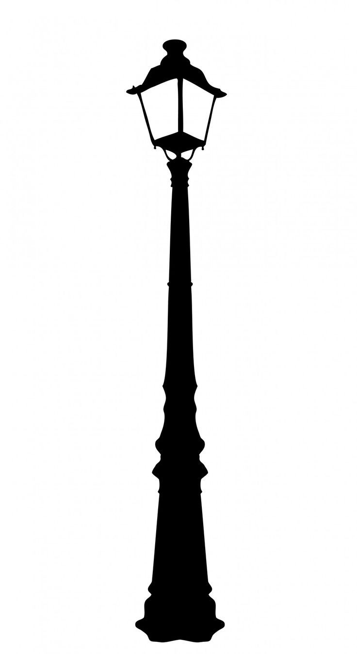 Vintage Street Lamp Clipart.