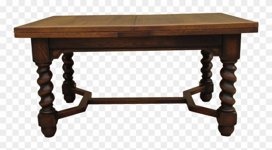 French Antique Oak Barley Twist Dining Table Antique Clipart.