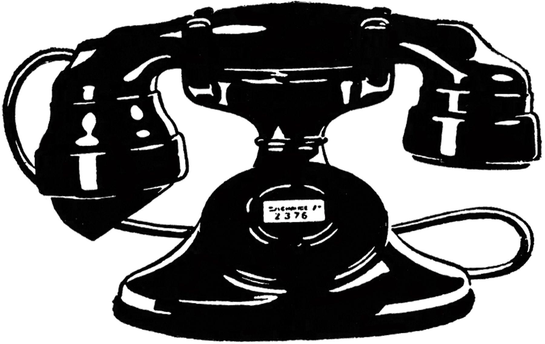 7 Vintage Telephone Images!.