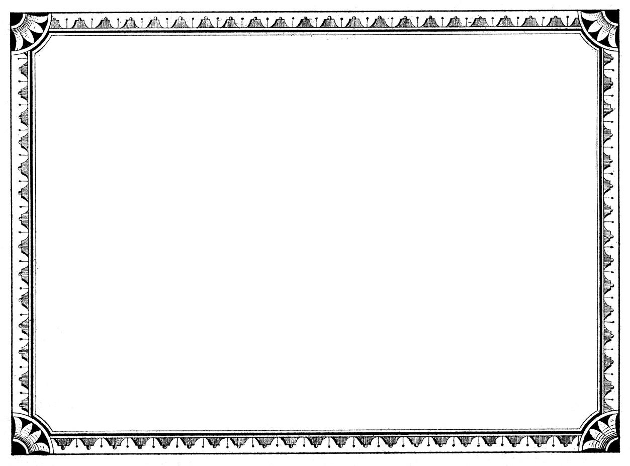 Antique template clipart #3