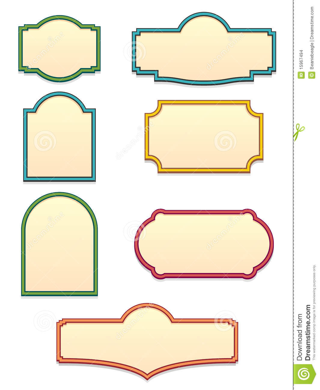 Antique Sign Templates EPS Stock Images.