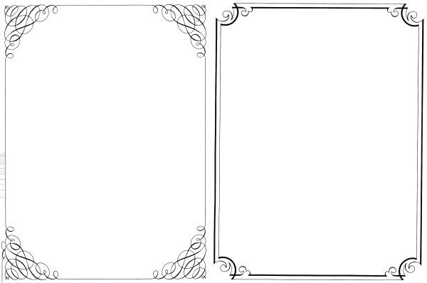 200+ Free Vintage Ornaments, Frames and Borders.