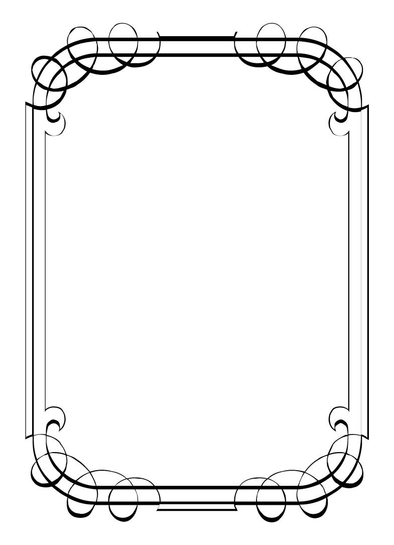 Antique template clipart #13