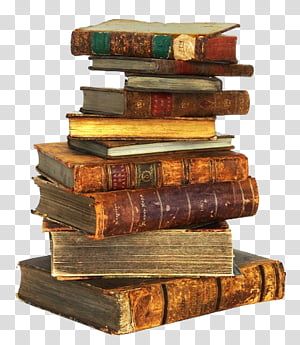 Old Books, book lot transparent background PNG clipart.