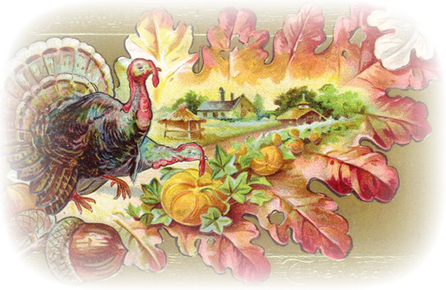 Vintage Thanksgiving Clipart.