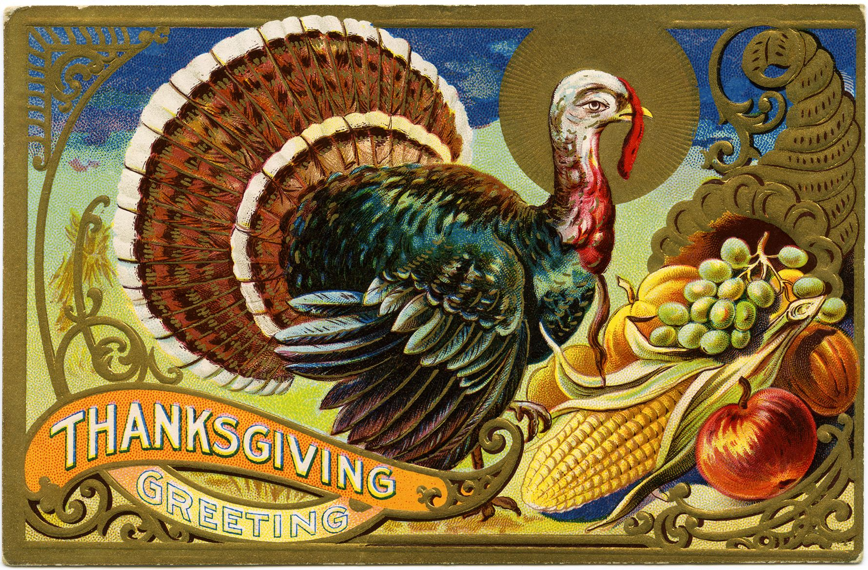 vintage thanksgiving Images Free.
