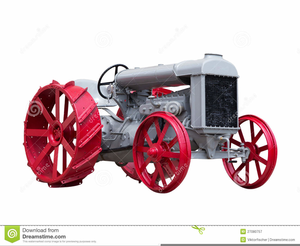 Free Antique Tractor Clipart.