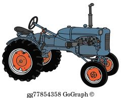 Old Tractor Clip Art.