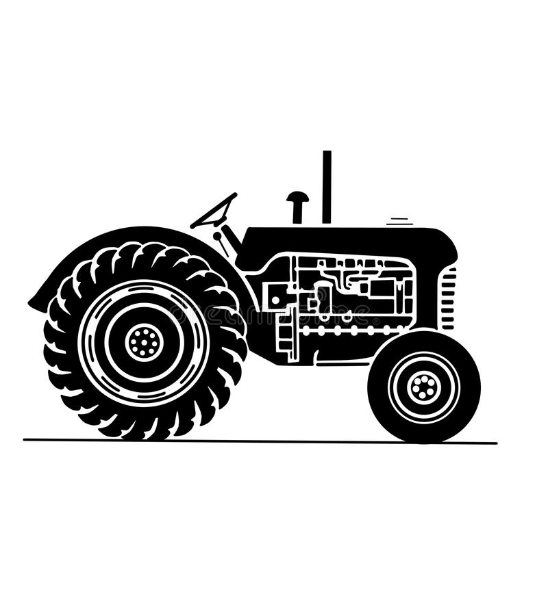 Antique Tractor Stock Illustrations.